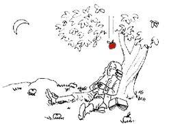 Newton unterm Apfelbaum