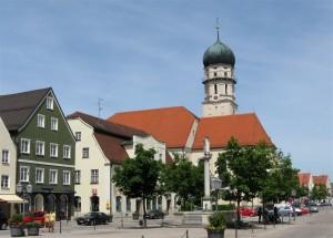 Schongauer Marienplatz - geplante Fussgängerzone