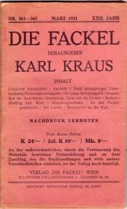 karl kraus - die fackel