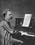 Nietzsche am Klavier (Fotomontage)